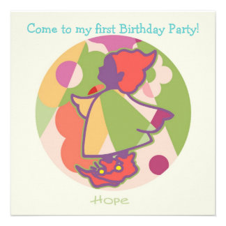 Honey Pie - Hope (Girl) Party invitation card