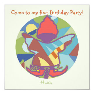 "Honey Pie - Hug (Boy)  Party invitation card 5.25"" Square Invitation Card"
