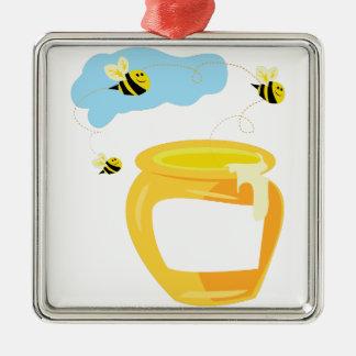 Honey Pot Metal Ornament