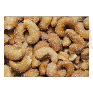 Honey roasted cashew nuts greeting cards