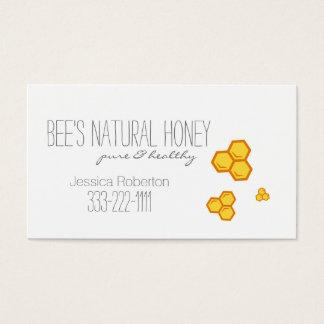 Honey Seller Beekeeper Honeycomb Design Card
