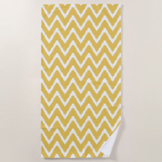 Honey Southern Cottage Chevrons Beach Towel