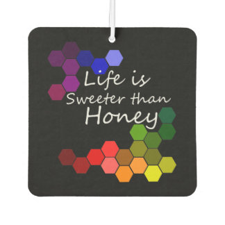 Honey Theme With Positive Words Air Freshener