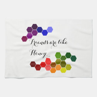 Honey Theme With Positive Words Kitchen Towel