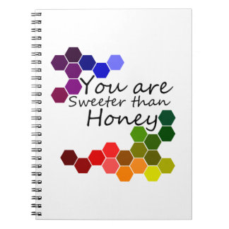 Honey Theme With Positive Words Notebook