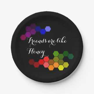 Honey Theme With Positive Words Paper Plate
