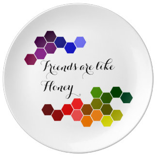 Honey Theme With Positive Words Plate