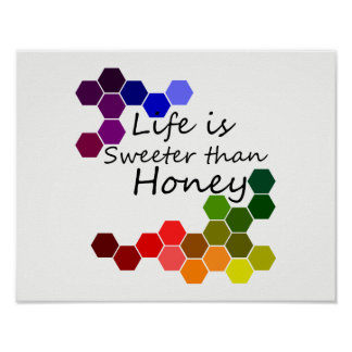 Honey Theme With Positive Words Poster