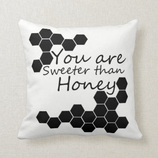Honey Theme With Positive Words Throw Pillow