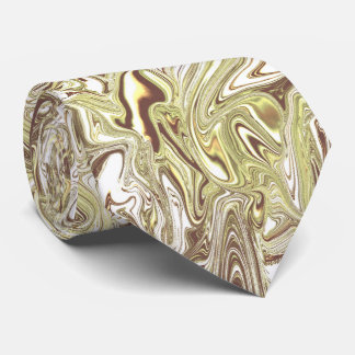 Honey wheat marbled necktie pale gold and cream