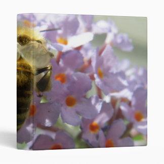 Honeybee and Buddleia Flowers Photo Album 3 Ring Binders