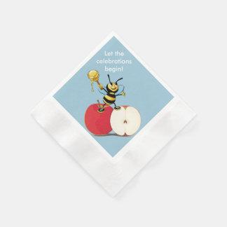 Honeybee Apple Rosh HaShana Paper Napkins