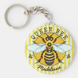 Honeybee Bumblebee Queen Bee Honey | Personalized Keychain