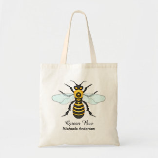Honeybee Bumblebee Queen Bee Pretty | Custom Name Tote Bag