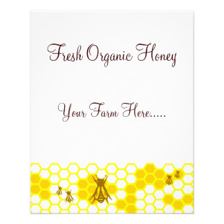 Honeybee Honey Custom Tags / Flyer