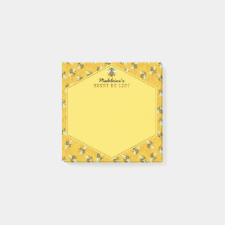 Honeybee Honeycomb Bumble Bee Honey Do List Custom Post-it Notes