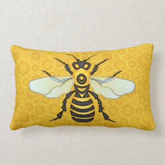 Honeybee Honeycomb Cute Large Bee Nature Lumbar Pillow