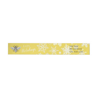 Honeybee Honeycomb Queen Bee | Wraparound Label