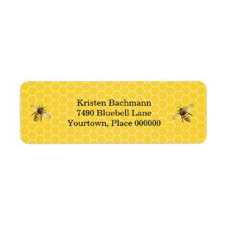 Honeybee Mother to Bee Baby Shower Return Address Label