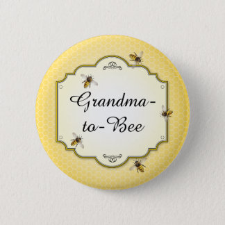 Honeybee Mother to Bee Baby Shower Role 2 Inch Round Button