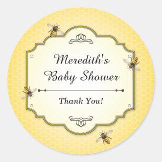 Honeybee Mother to Bee Baby Shower Thanks Classic Round Sticker