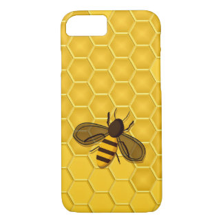 Honeybee on a Gold Honeycomb iPhone 7 case