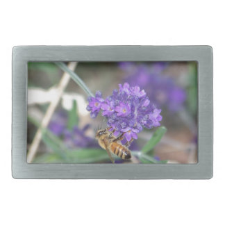 Honeybee on Lavender Belt Buckle