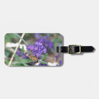 Honeybee on Lavender Luggage Tag