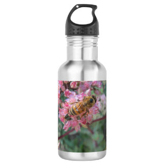 Honeybee on Pink Sedum 532 Ml Water Bottle