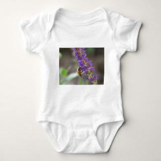 Honeybee on Salvia Baby Bodysuit