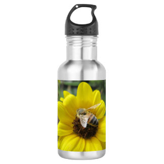 Honeybee on Sunflower 532 Ml Water Bottle