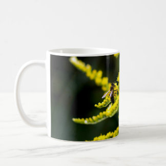 Honeybee on Yellow Wildflower Coffee Mug