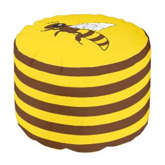 Honeybee Round Pouf