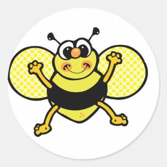 Honeybee round sticker