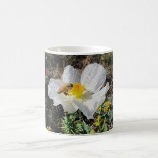 Honeybee with Prickly Poppy Coffee Mug