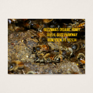 Honeybees at work business card