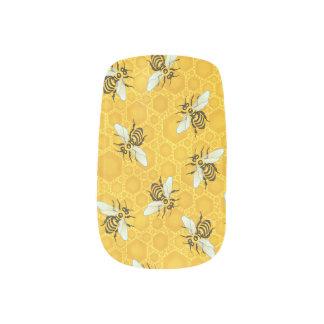 Honeybees Honeycomb Bumble Bee Hive Pattern Minx Nail Art