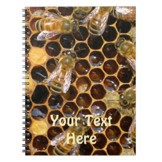 Honeycomb and Bees Notebook