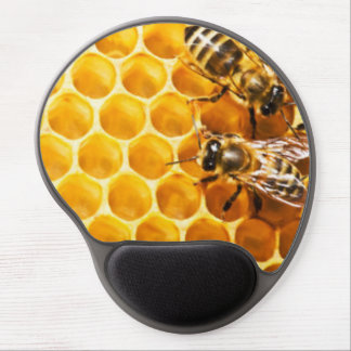 Honeycomb and Bees Pattern Design Gel Mouse Pad