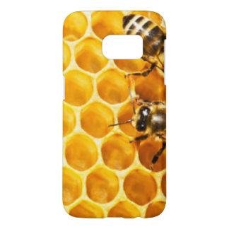 Honeycomb and Bees Pattern Design Samsung Galaxy S7 Case
