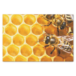 Honeycomb and Bees Pattern Design Tissue Paper