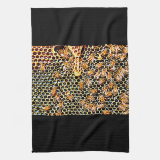 Honeycomb and Honey Bees Towel