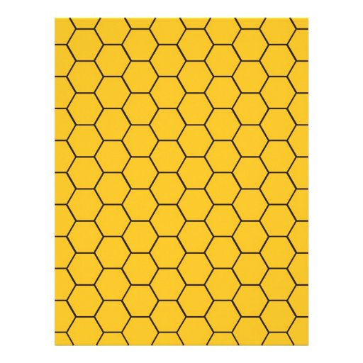 Honeycomb baby scrapbook paper customized letterhead zazzle