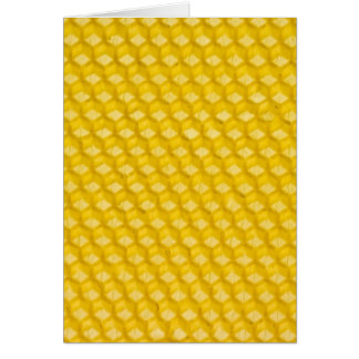 Honeycomb Background Gifts Template Greeting Card