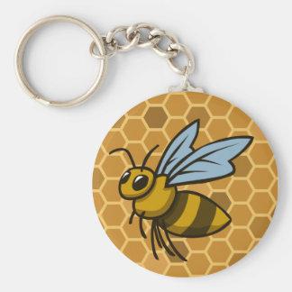 Honeycomb Bumble Bee Keychain