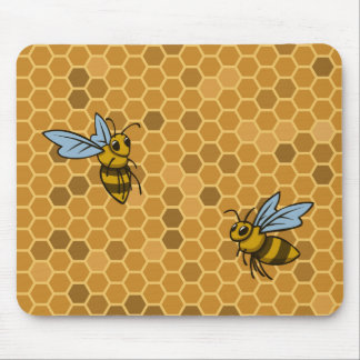 Honeycomb Bumble Bees Mouse Pad