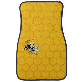 Honeycomb Bumblebee and Daisy Car Mat