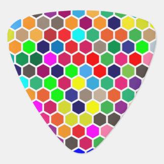 Honeycomb Colorful Pattern Guitar Pick