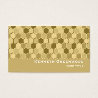 Honeycomb Design Unique Business Card Template