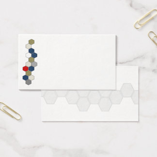 Honeycomb (earth tone) business card